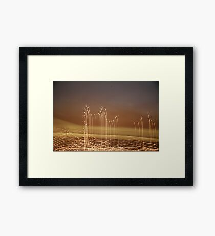 Base Line Framed Print