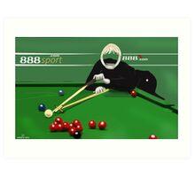Corky's playing snooker Art Print