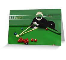 Corky's playing snooker Greeting Card