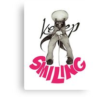 """Keep Smiling"" - Sackhead Canvas Print"