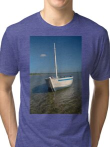 Dhow in the shallow turquoise water Tri-blend T-Shirt