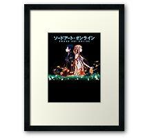 SAO - Through Thick and Thin, logo high Framed Print