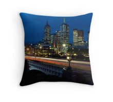 Melbourne Rush Hour Throw Pillow
