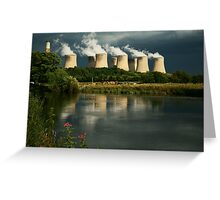 Cooling Towers Greeting Card