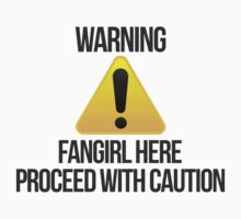 Warning fangirl Kids Clothes