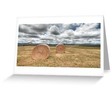 Hay Bales - Derby, Tasmania Greeting Card