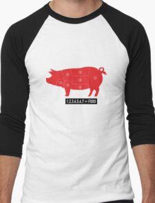 Pork is food Men's Baseball ¾ T-Shirt