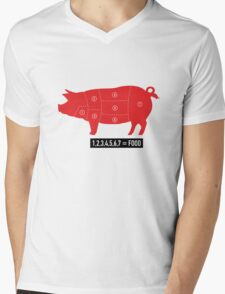 Pork is food Mens V-Neck T-Shirt