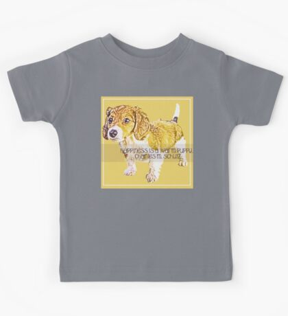 Happiness is a Warm Puppy Kids Tee