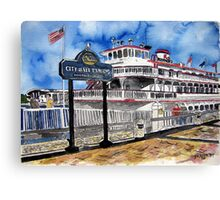 Savannah Queen River Boat Canvas Print
