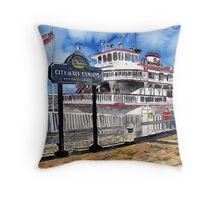 Savannah Queen River Boat Throw Pillow