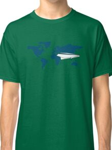 trip around the world in my origami plane Classic T-Shirt