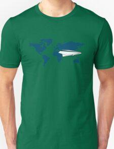 trip around the world in my origami plane T-Shirt