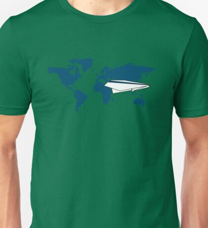 trip around the world in my origami plane Unisex T-Shirt