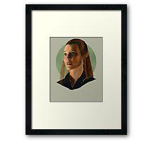 She Walks in Starlight Framed Print