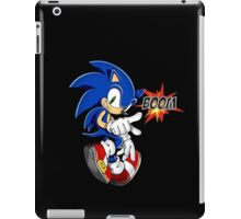 Sonic the boom hedgehog - on black iPad Case/Skin