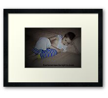 Sleeping Superman Framed Print