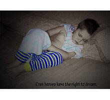 Sleeping Superman Photographic Print