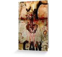DEATH WAS KNOCKING AT HER DOOR, SHE RESIST BUT FINALLY SHE LET GO Greeting Card