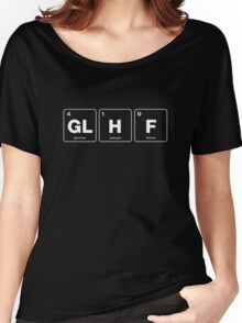 GLHF Periodic Table - White Type Women's Relaxed Fit T-Shirt