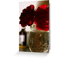 ROSY Silhouette Greeting Card