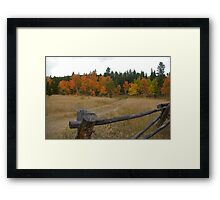 Road to Autunm Framed Print