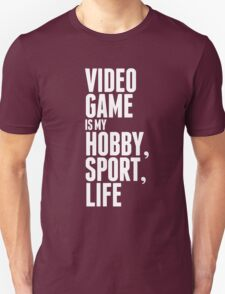 Game is my life - White T-Shirt