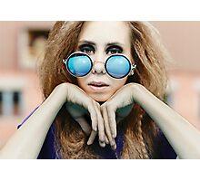 Hippie girl Photographic Print