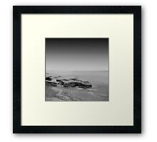 black coast Framed Print