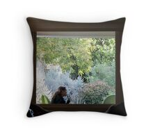 Push Pops on the Patio Throw Pillow