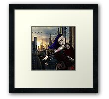 Coruscant Sunrise Framed Print