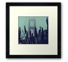 """Purple Haze Daze"" Golden Gate Bridge Framed Print"