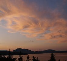Cowichan Bay at Sunset by Pamela Chan