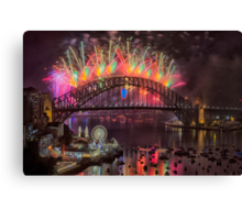 What a Blast - Sydney New Years Day 2015 # 2 Canvas Print