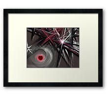 Jagged Heart Framed Print