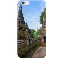 Crumbling Stupa at Local temple, Hsipaw, Shan State, Myanmar iPhone Case/Skin