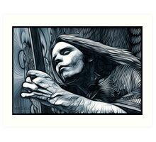"Bob Weir ""Destination Unknown"" Grateful Dead psychedelic image Art Print"