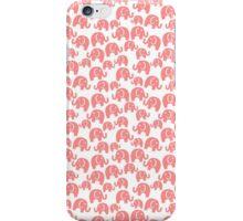cute pink elephant pattern iPhone Case/Skin