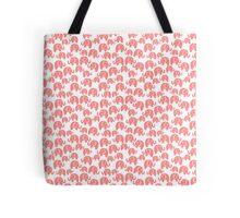 cute pink elephant pattern Tote Bag