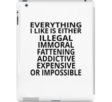 Everything I Like iPad Case/Skin