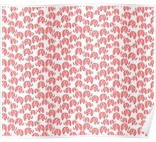 cute pink elephant pattern Poster