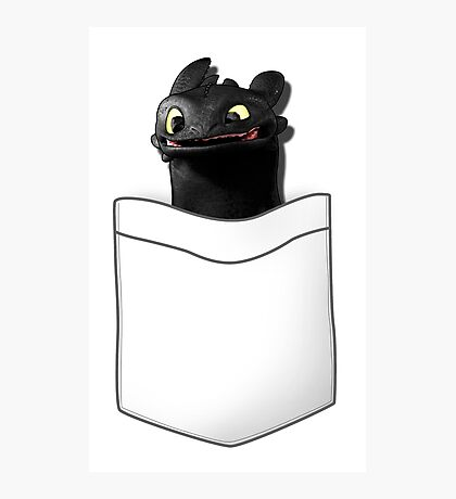 Toothless in your Pocket t shirt Photographic Print