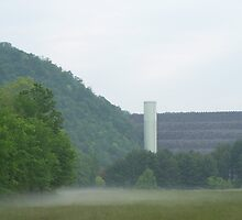SOUTH HOLSTON DAM IN BRISTOL TN  by ELIZABETH B