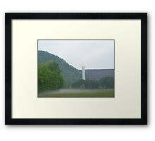 SOUTH HOLSTON DAM IN BRISTOL TN  Framed Print