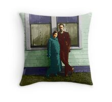 Madge and Howard Throw Pillow