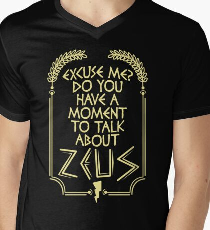 Zeus Mens V-Neck T-Shirt