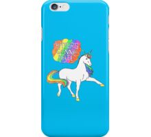 Haters gonna hate unicorn (blue background) iPhone Case/Skin