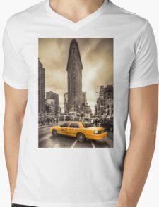 Classic New york city view Mens V-Neck T-Shirt