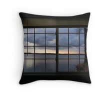 Through the Panes Throw Pillow