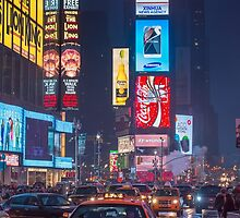 Times square and yellow taxi by Andrew-Thomas73